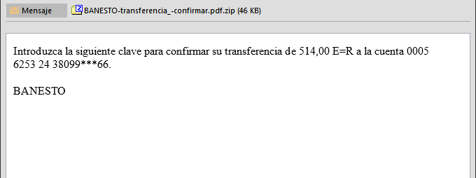 Phishing Banco Banesto