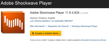 Actualizar Adobe ShockWave Player