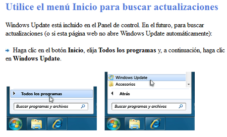Actualizar software windows
