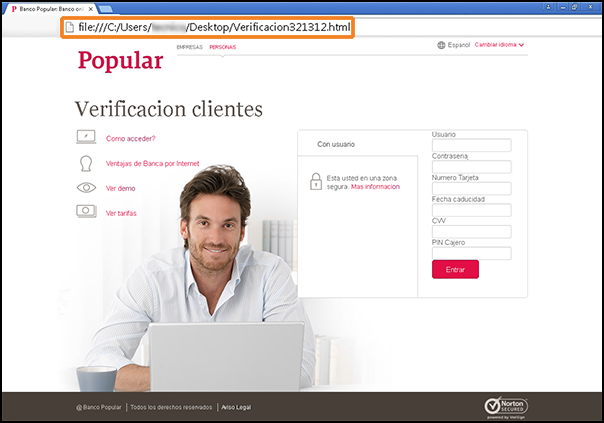Phishing a Banco Popular