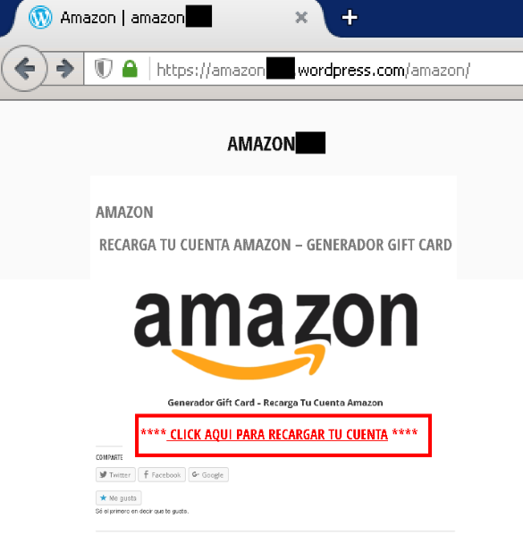 Phishing a Amazon