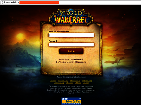 Phishing a World of Warcraft (WoW)