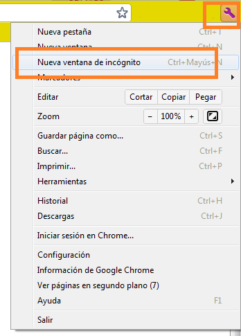 Incógnito Chrome