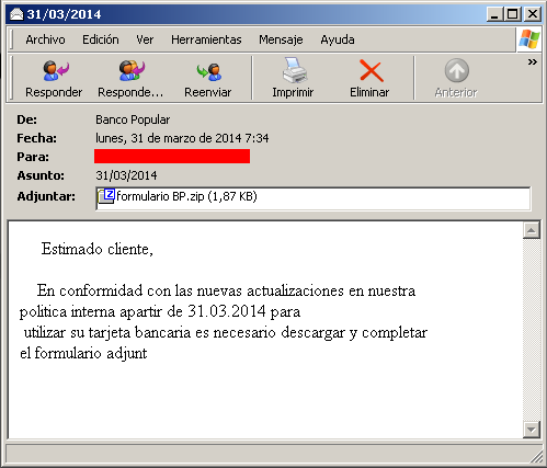 Phishing Banco Popular