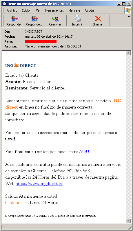 Phishing ING DIRECT
