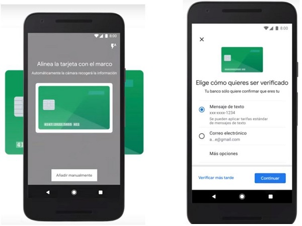 Capturar y verificar tarjeta - Google Pay