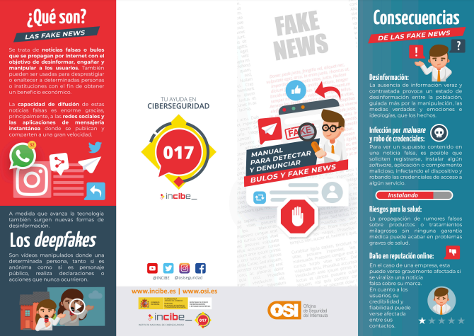 Cuadríptico Manual para detectar bulos y fake news